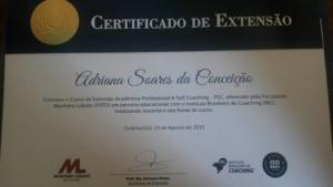 Certificado Extensão Professional Coach