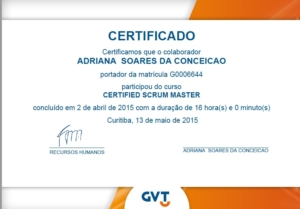 Certificado Scrum Master